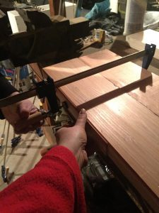 Lower wood clamps countertops