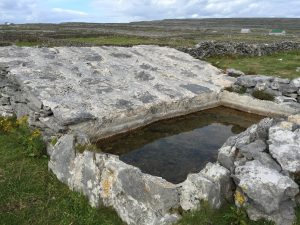 Aran islands inis mor water trough rain water catchment system drought desert