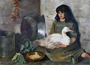 The Goose Girl by Edith Anna Œnone Somerville, [1888]