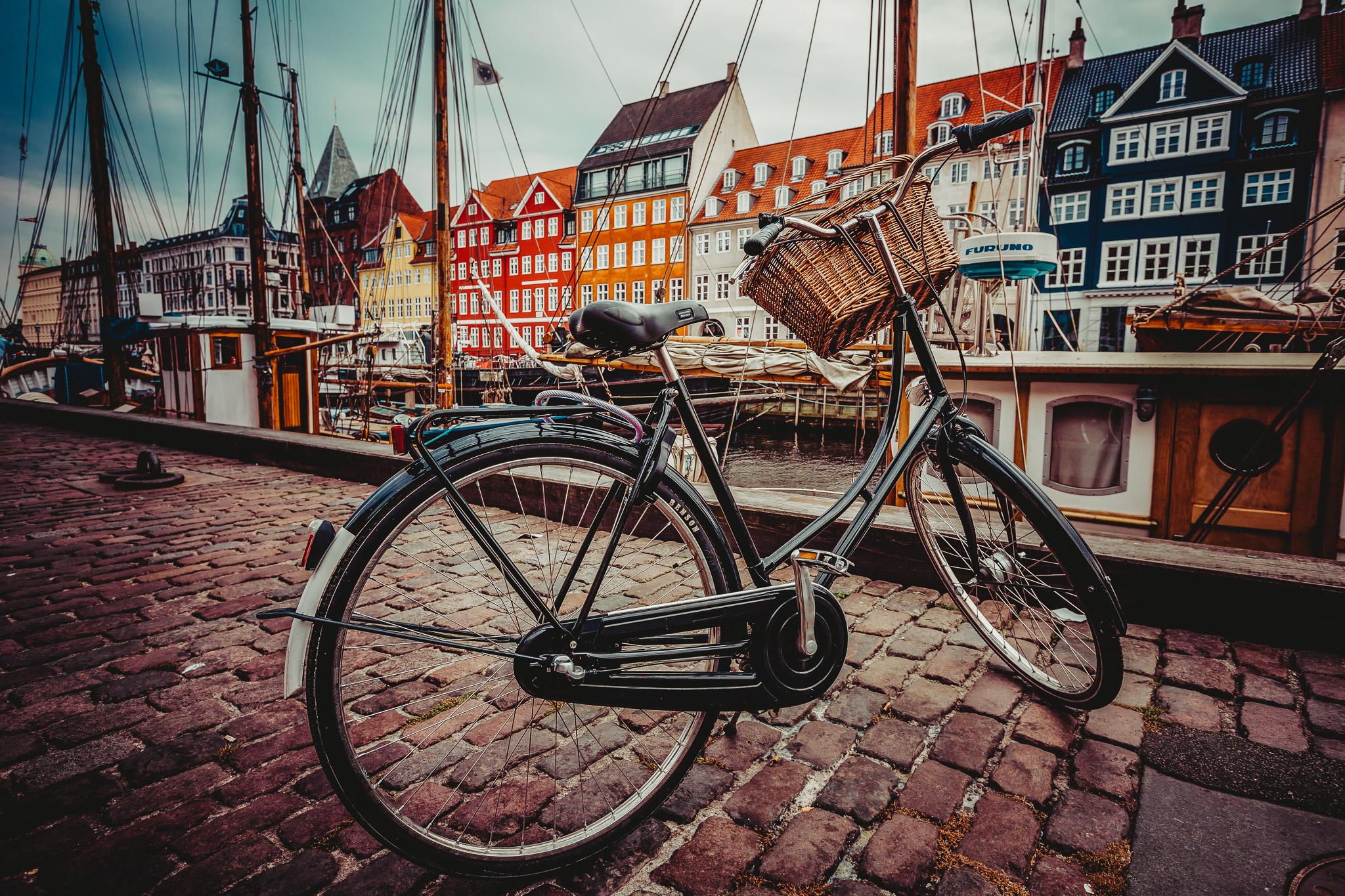 bike at nyhavn copenhagen denmark