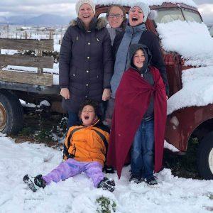flip flop ranch family farm portrait